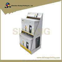 Custom Design 4 Color Printing Folded Cardboard Floor Display Stand Computer
