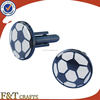 promotional sports gifts metal football cufflinks with epoxy