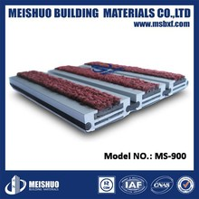 Best brand ms thick aluminum base rubber connect roll up heavy duty entrance mats