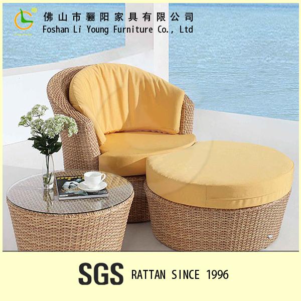 Muebles de exterior silla de la rota& sillones de mimbre reclinable ...