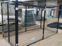 cheap chain link dog kennels with top cover
