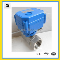 Stainless Steel 304 2 way mini DC5V motor valve for Air conditional,solor heating,water automatic control