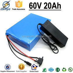 Gold Supplier 8P16S 3.7V 2.5ah 18650 Battery Cell 60V 20Ah electric motorcycle battery pack