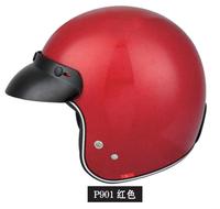 Red Elegant Half Face Motorcycle Skull Helmets Price