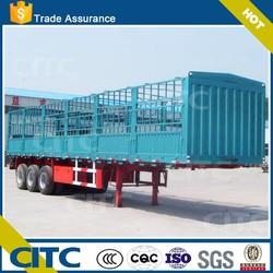CITC fence semi trailer horse transport semi trailer with FUWA axles trcuks for sale store house bar semi trailer factory prcie