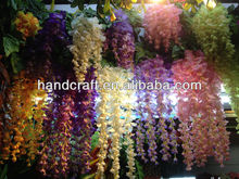 new product hanging artificial wisteria flower for wedding decoration supplies