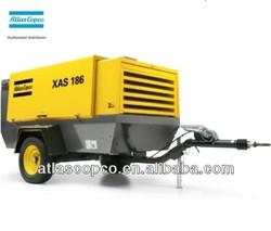 2015 Hot sale (400cfm 14bar) XAVS196Dd Atlas Copco screw air compressor with Deutz diesel engine china product