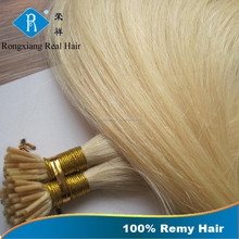Hot Selling Fashion Factory Wholesale Unprocessed Raw Hot Fusion Extensions i tip 100% virgin indian remy hair extensions