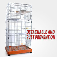Large stainless steel pet iron cage for sale cheap cat cage