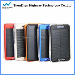 10000mah solar mobile phone charger for blackberry phone rohs mobile solar charger