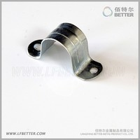 two hole glavanized steel U-shaped pipe conduit clip