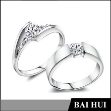 Free Shipping Wholesale Women Men 18K GP /Rose Gold /Silver Wedding Band Stainless Steel Couple Purity Rings