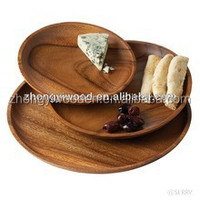 2015 hot selling FSC&SA8000 new desing food wood plate,antique wood plates for manufactured wholesale
