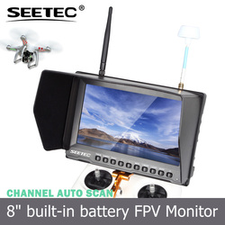 Small 800*480 lcd display 8 inch ground station screen channel auto searching 5.8ghz 32CH fpv video transmitter