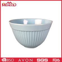 Grey color external swirl design plastic melamine mixing bowl wholesale