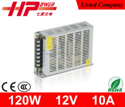 Factory price high reliability constant voltage single output ac dc 120w power supply 12v 10a