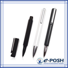 Calligraphy triangle metal aluminum extrusion office business hotel ball roller gift pen set