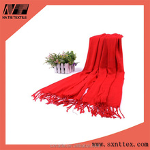 New Arrival Women's Red Cashmere-like Scarf Shawl Pashmina
