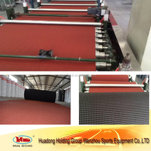 Recycled rubber sport court surface playground floor outdoor badminton flooring