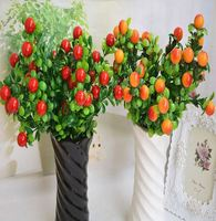 Home Garden Coffee Shop Wedding New Year Decorative Artificial Lucky Fruit Fake Landscape Flowers