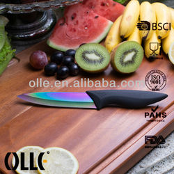 Rainbow Ceramic Blade Chef Knife with Titanium Coating