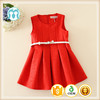 Sweet Baby Girls Sleeveless Fashion Dresses Kids Leather Dress Red Party Dress Hot Sale