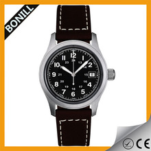 Fashion wrist watch sports leather men's military watches band