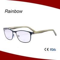 2014 designer glasses frames for men wenzhou optical eyewear stainless steel frame MM14028