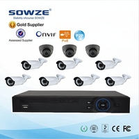 2015 Hot selling NVR KIT 960P with indoor&outdoor camera /POE Swith/16ch NVR