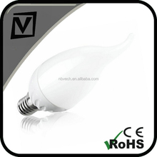 e14 led candle lamp,5w led lighting bulbs,led lamp with tail,cool white