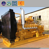 Electric power ac three phase output type biomass generator 200kw sawdust gasification power generation