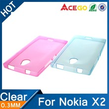 (Acego) Guangzhou 0.3mm Ultra thin silicone back cover for nokia x2