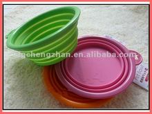Foldable silicone pet bowl for Travel