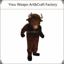 Fashion wholesale hot sale animal mascot costume carnival Buffalo Costume Mascot