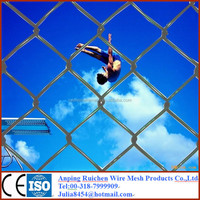 China Alibaba Vinyl Coated Chain Link Fence Woven Wire Mesh Fence Galvanized Chain Link fence Fabric