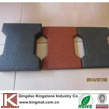 Outdoor Recycled Safety Rubber Paver Tile