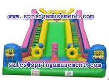 Super inflatable spongebob water slide for sale SP-SL059