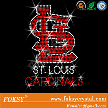 Rhinestone Transfer nfl St. Louis Cardinals logo Hotfix Iron On Bling
