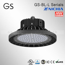 CE DLC UL SAA TUV approved round 200w led high bay light for hid lamp replacement