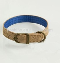 BOSHIHO New product dog collar with name cork fabric material