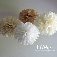 Tissue Poms - Birthday Decor - Hanging Decor - Room Decor - Photo Prop, Wedding Decoration Party DIY Kit ,Wedding Tissue Paper