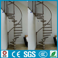 Hot sale space saving PVC handrail spiral stairs