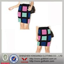 2013 Tartan women check skirt fashion design
