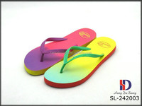 2015 New Lady Sublimation Printed PE Flip Flops