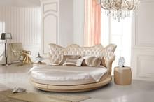 Luxurious modern design big headboard king size round bed