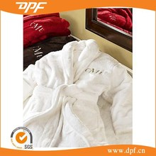 high quality comfortable embroidered luxury hotel bathrobe on sale
