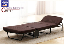 Modern portable single bunk folding sofa bed with wheels