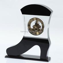 small crystal desk clock, funny desk clock, cheap promation crystal clock