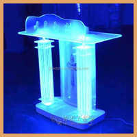 acrylic podium pulpit lectern can put ipad church podium with different LED lights