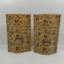 Eco-friendly printed rice paper bag with handle buckle, 1kg 2.5kg 5kg 10kg paper bag for rice packaging